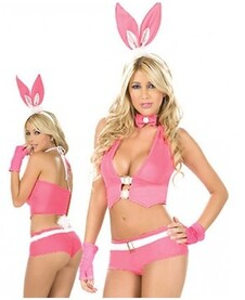 Lapin Peep-a-boo Costume Adulte Sexy Rose