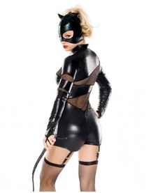 Cosplay Catwoman Spandex Costume Transparent